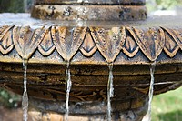 Close_up of fountain with water flowing from it