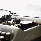 Paper with text inside typewriter