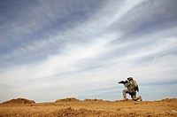 U.S. Army Sergeant provides security during a patrol