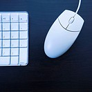 Still life of computer keyboard and mouse