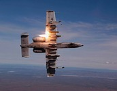 A pilot fires a missile from his A_10 Thunderbolt II