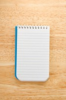 Open spiral bound notepad