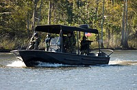 Special boat maneuvers and weapon handling training