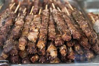 europe, greece, athens, souvlaki, skewer meat