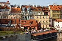 Czech Republic. Prague. Mala Strana street view, besides Moldava river. Old town