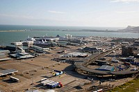 View over Dover Port, Kent, England, UK