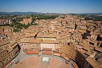 europe, italy, tuscany, siena, piazza del campo