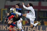 cristian chivu e gianpaolo pazzini, milano 2009, italian cup 2008_2009, inter_sampdoria