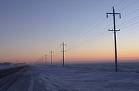 winter in Manitoba, prairie scene