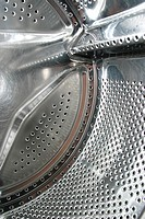 perforated, washing, holes, stainless, machine, appliance