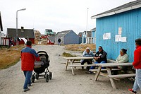 Scene from small village of Itilleq, Greenland