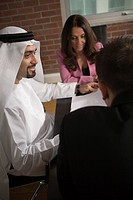 Office, business, meeting, businessmen, businessman, Arabic (thumbnail)