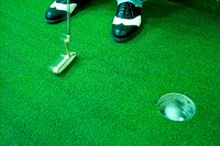 hole, leisure, ball, putter, club, sports