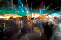 cityscape, light, blur, people, city, effect, night