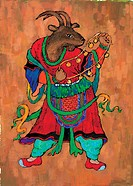 vertebrate, goat, warrior, clothes, tradition, mammal, animal