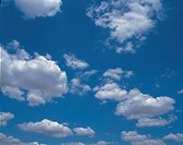 blue sky, blue, clouds, scenic, natural world, cloud