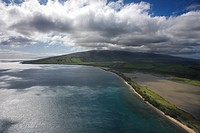 Aerial of Maui, Hawaii coast