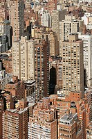 Aerial view of buildings in New York City