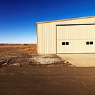 Industrial storage building in rural Utah desert