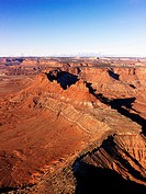 Aerial landscape of canyon in Canyonlands National Park, Utah, United States