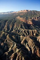 Aerial view of mountains in Utah, USA