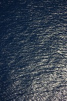 High angle view of ocean water ripples