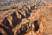 Aerial view of gorge in Canyonlands National park, Utah