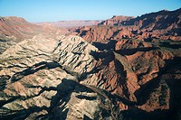 Aerial view of mountains with valley in Utah