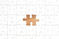 Jigsaw puzzle with piece missing