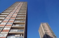 Council flats in high_rise buildings, London inner city