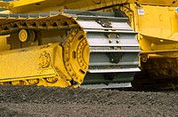 Detail of bulldozer tracks