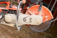 Close up of a petrol cutter