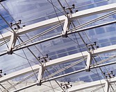 Detail of modern glass canopy