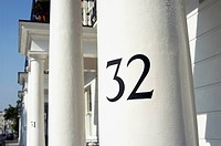 House numbers in a West London street