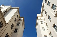 View looking up towards apartments in Kensington