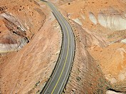 Scenic highway through desert landscape of Utah, USA (thumbnail)