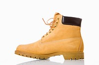One tan work boot (thumbnail)