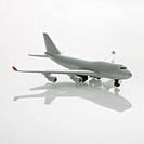 Miniature model commuter jet airplane