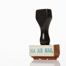 Rubber stamp for air mail