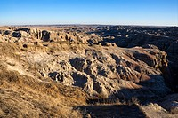 Overview of landscape in Badlands National Park, South Dakota (thumbnail)