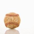 Dirty worn baseball