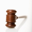 Selective focus of wooden gavel
