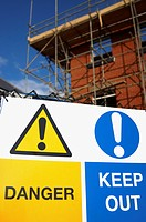 Restricted access sign on a new housing development site (thumbnail)