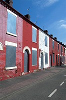 Derelict housing estate, Salford area, Manchester, United Kingdom