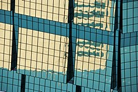 Abstract cose-up of side of urban building reflecting sunlight (thumbnail)
