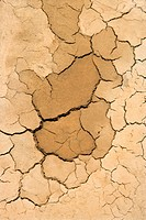 Close_up of dry, cracked dirt