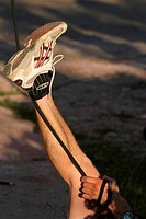 grip, feet, shoes, rock, climber, cliff