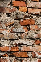 Brick Wall, Building Material, Built, Close_Up, Construction