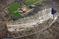 Stone quarry, Arantzazu, Gipuzkoa, Basque Country, Spain