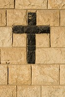 Black, Brick Wall, Close_Up, Cross Shape, Crucifix